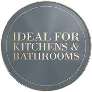 perfect for bathrooms and kitchens