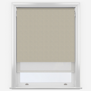 Absolute Light Grey & White Double Roller Blind
