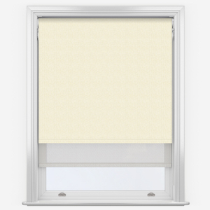 Absolute Natural & White Double Roller Blind