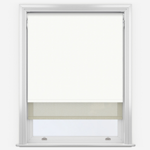 Absolute White & Cream Double Roller Blind