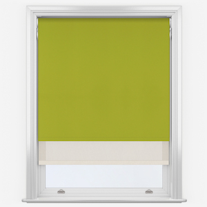 Aqualuxe Lime & Sunvue Cream Double Roller Blind