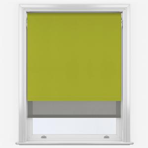 Aqualuxe Lime & Sunvue Steel Grey Double Roller Blind