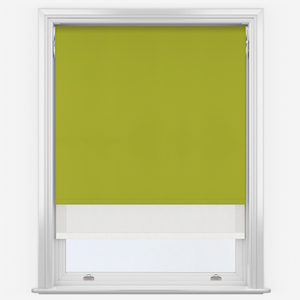 Aqualuxe Lime & Sunvue White Double Roller Blind
