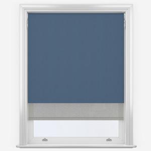 Denim Blue & Grey Double Roller Blind