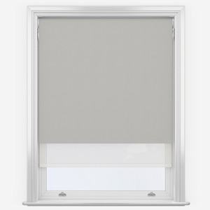 Grey & White Double Roller Blind