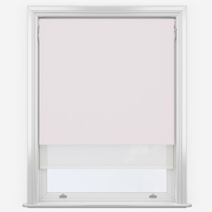 Lace & White Double Roller Blind