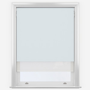 Mineral & White  Double Roller Blind