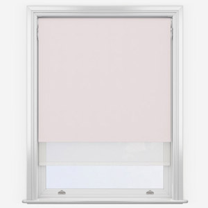 Peony & White Double Roller Blind