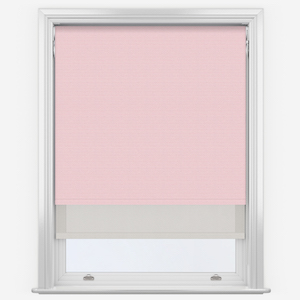 Touched By Design Supreme Blackout Peony Pink & Sunvue Dove Grey Double Roller Blind