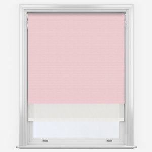 Touched By Design Supreme Blackout Peony Pink & Sunvue White Double Roller Blind