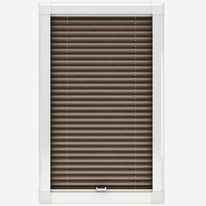 Touched By Design Dresden Tan Perfect Fit Pleated Blind