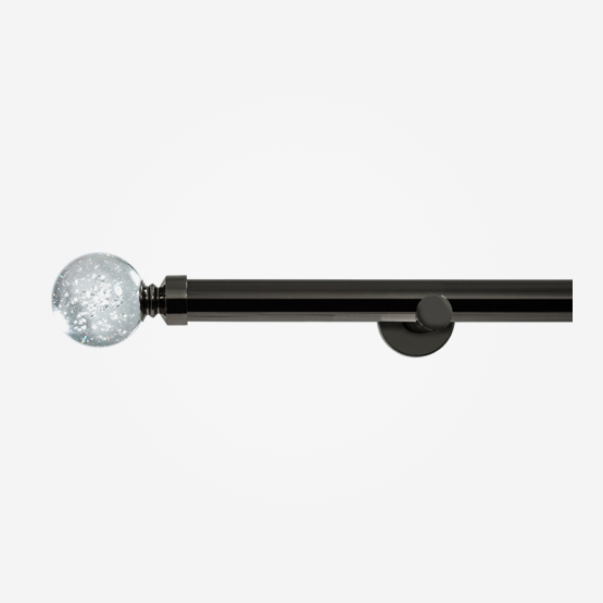 28mm Chateau Signature Black Nickel Glass Bubbles Eyelet
