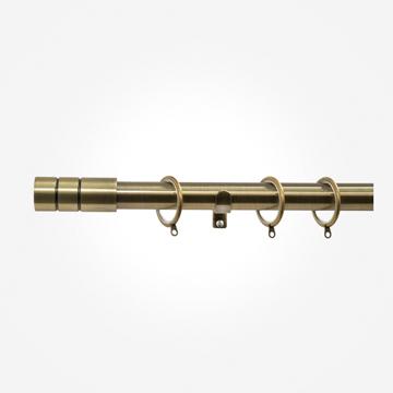 28mm Allure Antique Brass Barrel Curtain Pole