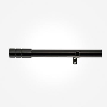28mm Allure Black Nickel Barrel Eyelet Curtain Pole
