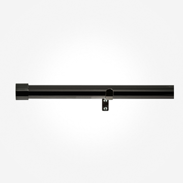 28mm Allure Black Nickel End Cap Eyelet Curtain Pole