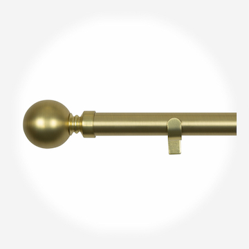 28mm Allure Classic Brushed Gold Ball Eyelet Curtain Pole Curtain Pole