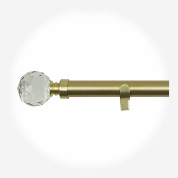 28mm Allure Classic Brushed Gold Crystal Eyelet Curtain Pole Curtain Pole