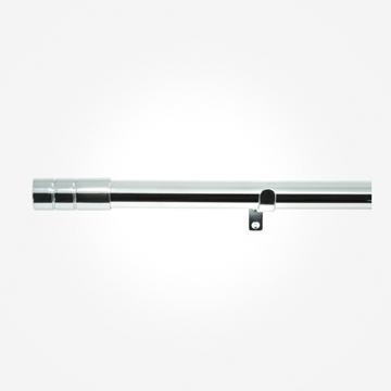 28mm Allure Polished Chrome Barrel Eyelet Curtain Pole
