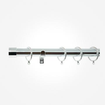 28mm Allure Polished Chrome End Cap Curtain Pole