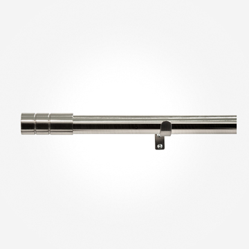 28mm Allure Stainless Steel Effect Barrel Eyelet Curtain Pole