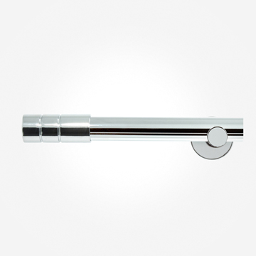 28mm Allure Signature Polished Chrome Barrel Eyelet Curtain Pole