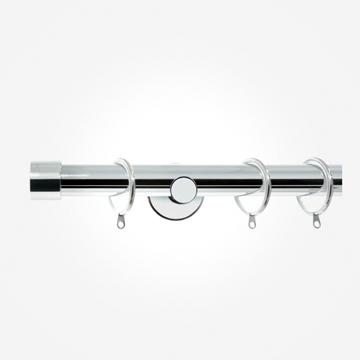 28mm Allure Signature Polished Chrome End Cap Curtain Pole