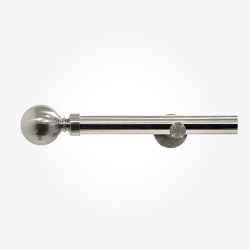 28mm Allure Signature Stainless Steel Ball Eyelet Curtain Pole