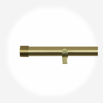 35mm Allure Classic Brushed Gold End Cap Eyelet Curtain Pole Curtain Pole