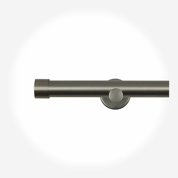 35mm Allure Signature Brushed Steel End Cap Eyelet Curtain Pole Curtain Pole