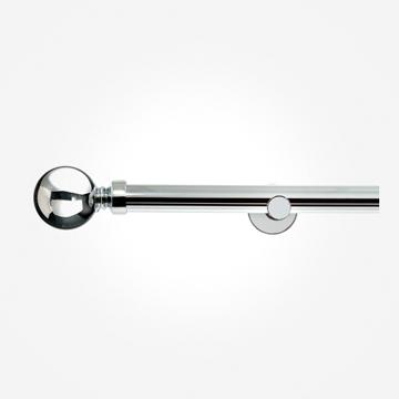 35mm Allure Signature Polished Chrome Ball Finial Eyelet Curtain Pole
