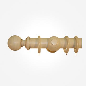 45mm Portofino Antique Cream Gold Ball Curtain Pole
