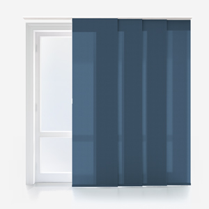 Touched by Design Deluxe Plain Airforce Blue Panel Blind