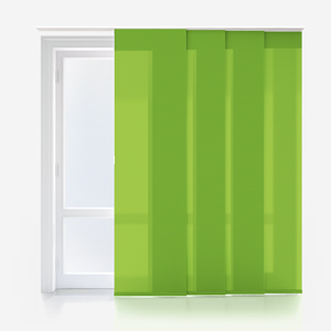 Touched by Design Deluxe Plain Apple Green Panel Blind