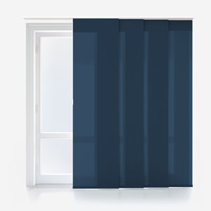 Touched by Design Deluxe Plain Azure Panel Blind