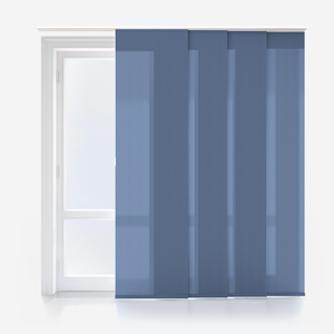 Touched By Design Deluxe Plain Denim Blue Panel Blind