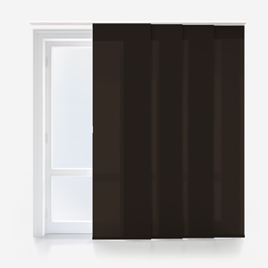 Touched By Design Deluxe Plain Espresso Panel Blind