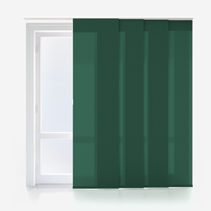 Touched by Design Deluxe Plain Forest Green Panel Blind