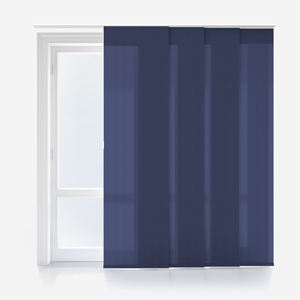 Touched By Design Deluxe Plain Indigo Panel Blind