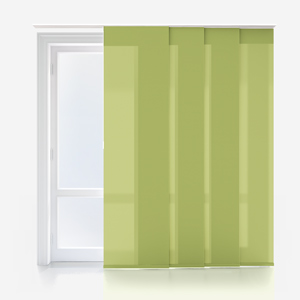 Touched By Design Deluxe Plain Lime Panel Blind