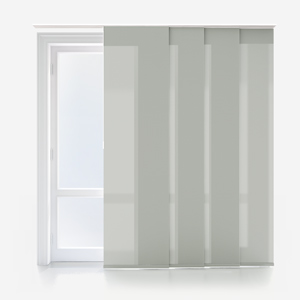 Touched by Design Deluxe Plain Mist Grey Panel Blind