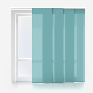 Touched By Design Deluxe Plain Ocean Green Panel Blind