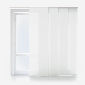 Touched By Design Deluxe Plain Porcelain White Panel Blind