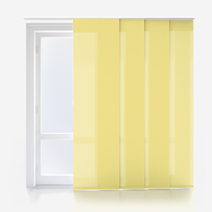 Touched By Design Deluxe Plain Primrose Yellow Panel Blind