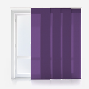 Touched by Design Deluxe Plain Purple Panel Blind