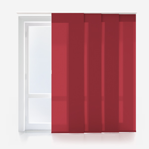 Touched by Design Deluxe Plain Red Panel Blind