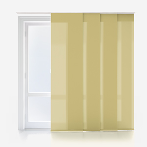 Touched By Design Deluxe Plain Stem Green Panel Blind