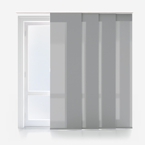Touched by Design Deluxe Plain Storm Grey Panel Blind
