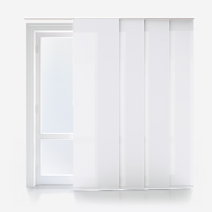 Touched By Design Deluxe Plain White Panel Blind
