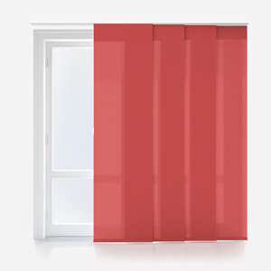 Touched By Design Optima Dimout Red Panel Blind