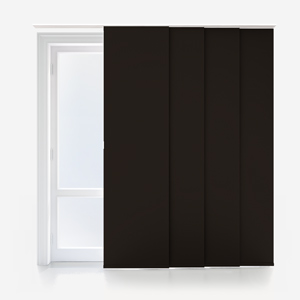 Touched By Design Supreme Blackout Espresso Panel Blind